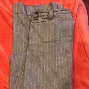 Brown pin stripes trousers